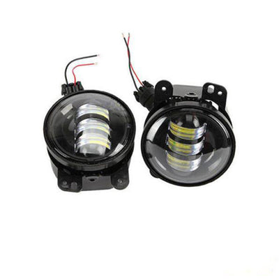 "7"" 80W Headlight Halo DRL with 4"" 30W Fog Light - LED Factory Mart"