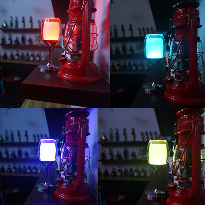 7 Models 3W LED Cup Light Rechargeable RGB Magic Crystal Wine Glass Lamp - LED Factory Mart - 10