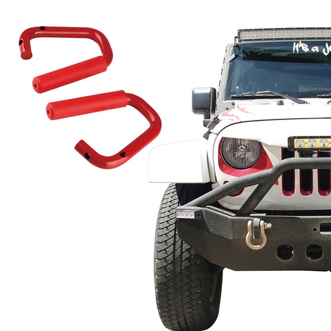 USA ONLY Red Front Only Grab Handles for Jeep Wrangler