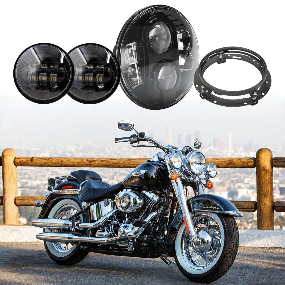 Motorcycle Accessories 7 Inch Round Led Headlight Mounting Bracket Ring For Harley Davidson Softail 1991-2013 Home