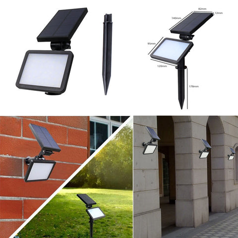 2pcs Solar Powered Wall Mount LED Light Outdoor Garden Path Landscape Fence Yard Lamp - LED Factory Mart - 1
