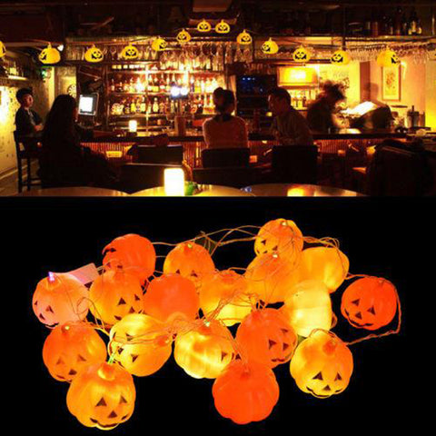 Mini Pumpkin LED String Lights For Halloween Decoration Party Bar