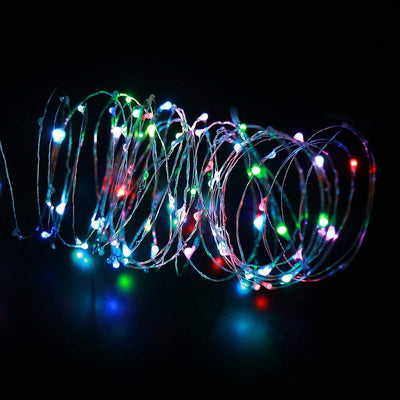 33ft 100LEDs RGB Copper Wire MultiColor String Lights - LED Factory Mart