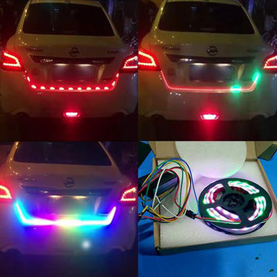 RGB LED Strip Red Brake Light For Car Trunk Tailgate Cargo Illumination