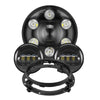 "DOT Approved 7'' Day maker LED Headlights + 4.5"" LED Fog Driving Lights + Bracket"