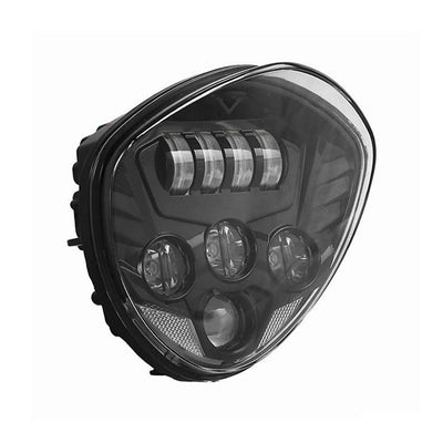 Chrome / Black Victory LED Headlight Kit Cross Country