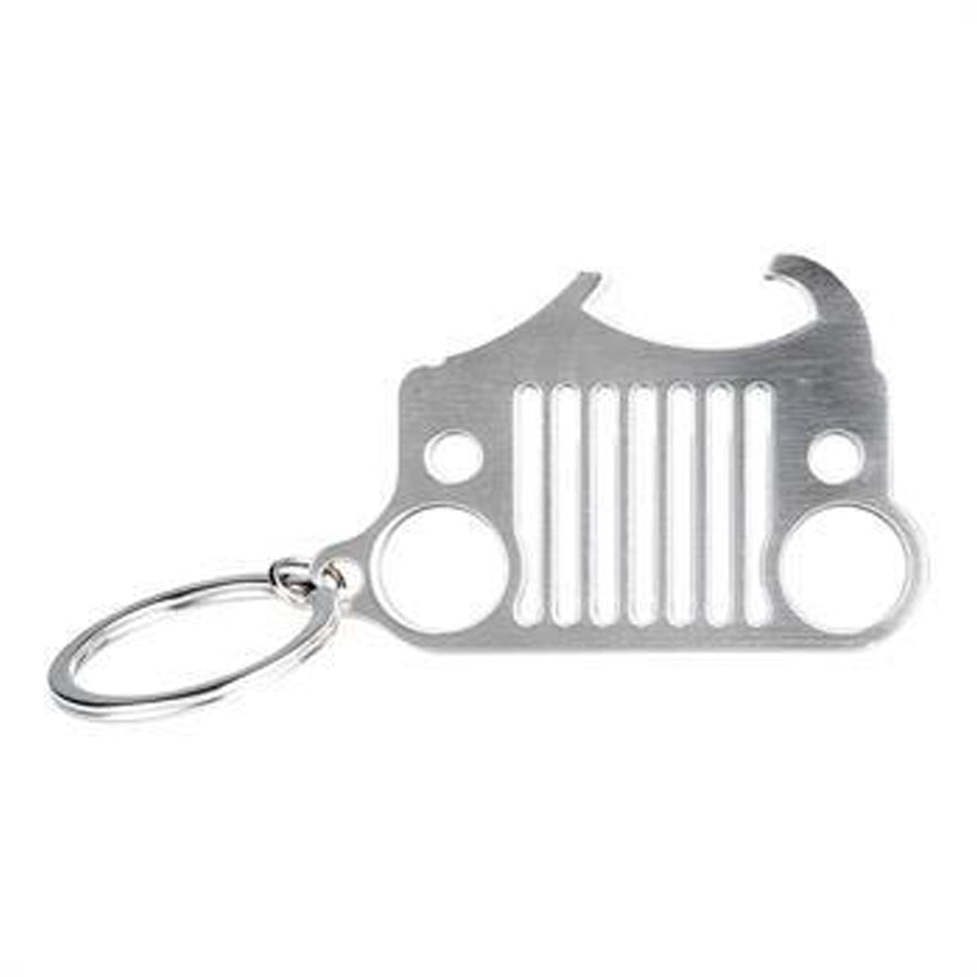 Steel Jeep Grill Key Chains / Bottle Opener