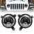 120W Cree LED Angel Eyes Headlight with 9 Inch LED Headlight Bracket Ring for 2018-2020 Jeep Wrangler JL And Jeep Gladiator JT