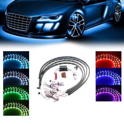 7 Color New Version High Intensity LED Car Underbody System Kit