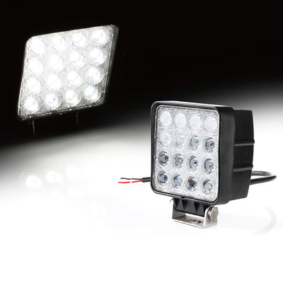 "USA ONLY 4"" 48W High Power LED 60 Degree Flood Beam Offroad Light"