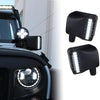 Clear Lens LED Side Mirror with White Spot Lights and Amber Turn Signal Lights
