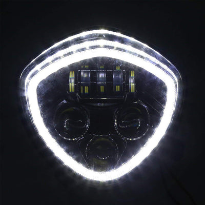 CREE LED Headlight w/Halo Ring For Victory Cross Country/Cruisers