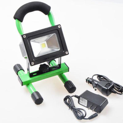 10W Wireless Rechargeable LED Outdoor Flood Light - Yellow