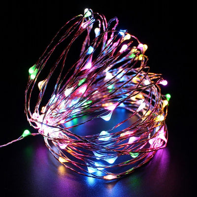 DC12V 10M 33ft 100LED LED String Fairy Light Copper Wire MultiColor RGB Decor Stripes - LED Factory Mart - 1