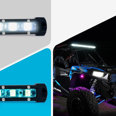 20 Inch Single Row LED Light Bar With Blue Backlight