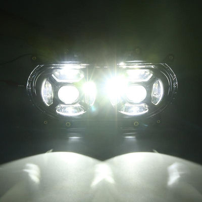 2015 Harley Road Glide Motocycle LED Dual Headlight