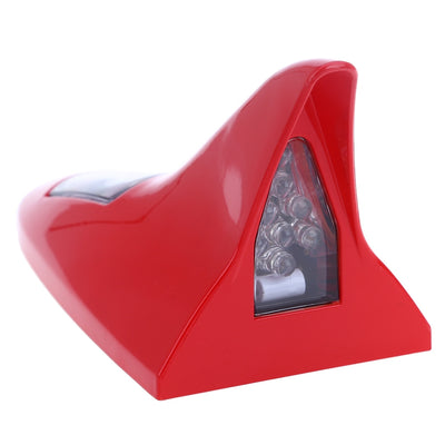 Shark Fin Shape 8 LEDs Solar Anti Collision Waterproof Warning Taillight for Car