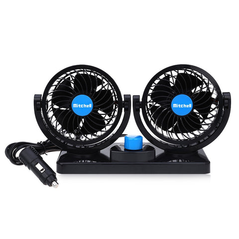 2 Gears 360 Degree Rotating Car Cooling Fan Air Conditioner