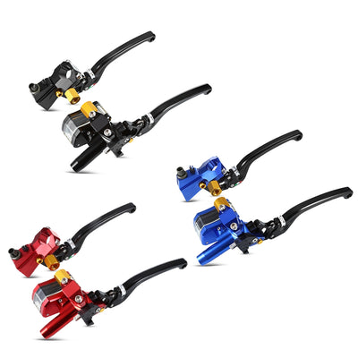 MPB Universal Motorcycle Cable Clutch Hydraulic Brake Pump Set - LED Factory Mart