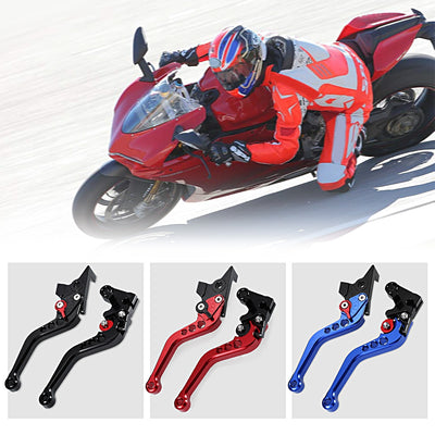 Motorcycle Aluminum Alloy CNC Adjustable Brake Clutch Levers - LED Factory Mart