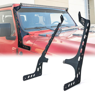 2018-2021 Jeep Wrangler JL Gladiator Front Windshield 50 inch Light Bar Mounting Brackets