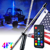 4ft/5ft Remote Control Flag Pole Whip Light with RGB Colors - LED Factory Mart