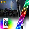 3ft/4ft/5ft/6ft 360° RGB Spiral LED Whip Light with Remote Control - LED Factory Mart