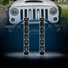 "USA ONLY 2PC 8"" Single Row CREE LED Grille Light Kit for 2007-2017 Jeep Wrangler JK"