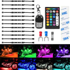 RGB LED Car Motorcycle Flexible Neon Strips Lights Kit