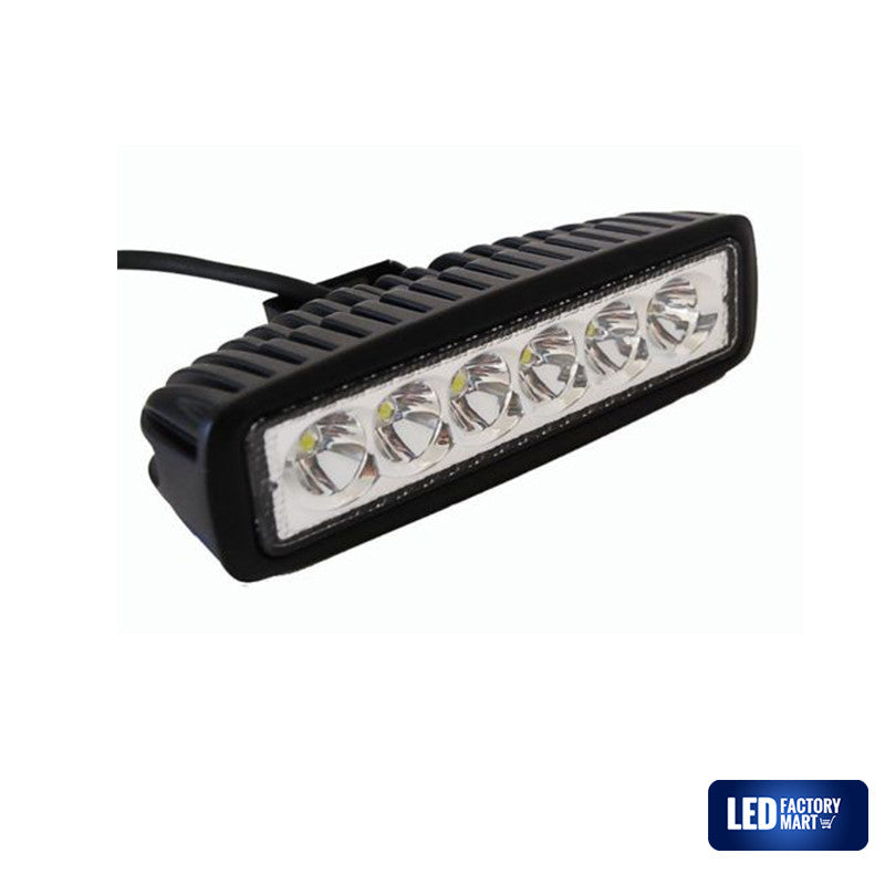6 Inch 18W Epistar LED Light Bar For Jeeps, Off-road SUVs, 4WD, Boats - LED Factory Mart - 3