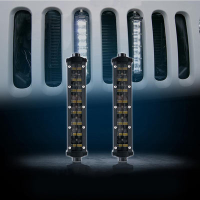 "USA ONLY 2 PCS 8"" Double Row Philips LED Grille Light Kit"