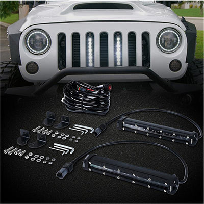 "USA ONLY 3PC 8"" Single Row CREE LED Grille Light Kit"