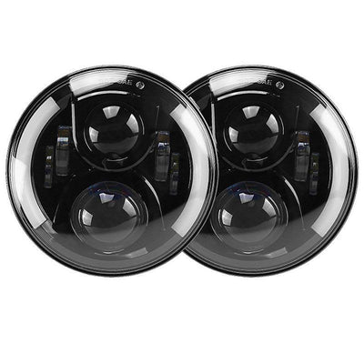 Jeep Wrangler JK Projector Headlights + Black LED taillights
