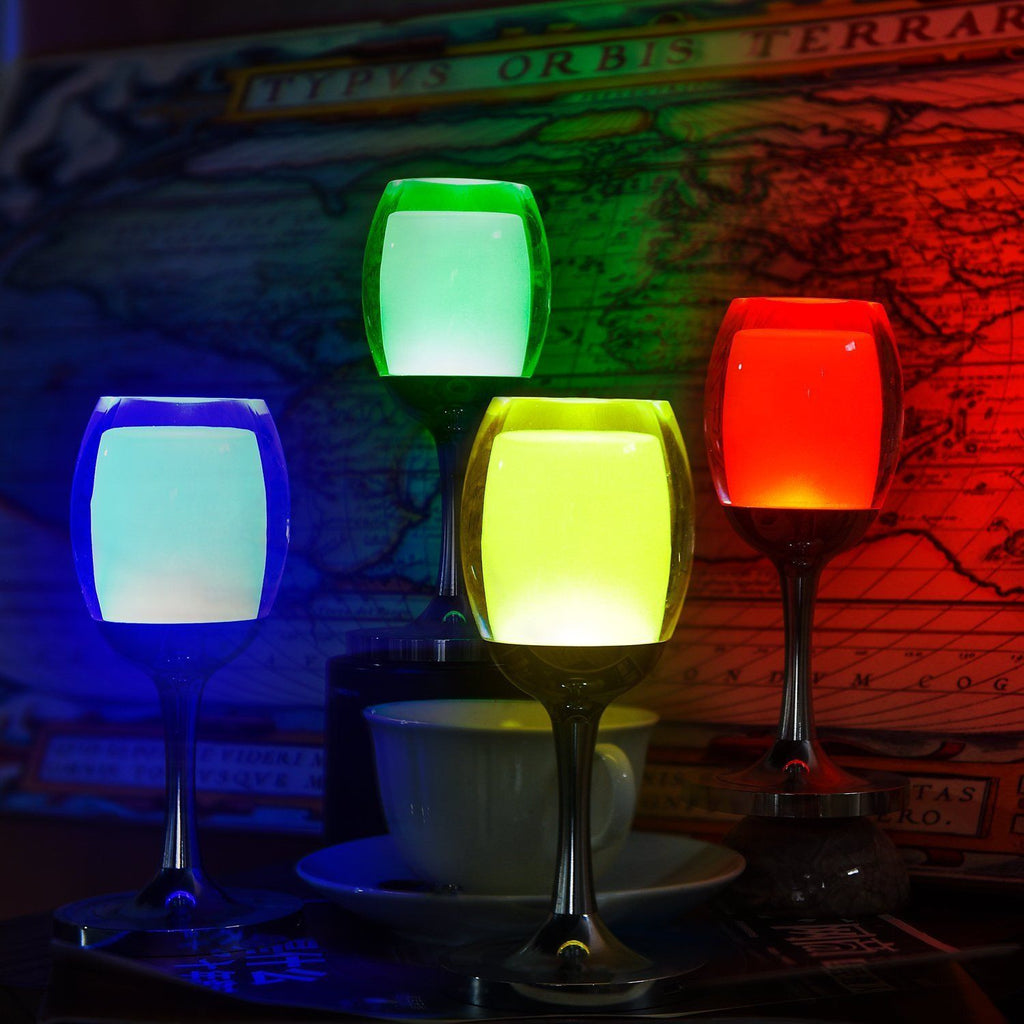 7 Models 3W LED Cup Light Rechargeable RGB Magic Crystal Wine Glass Lamp - LED Factory Mart - 11