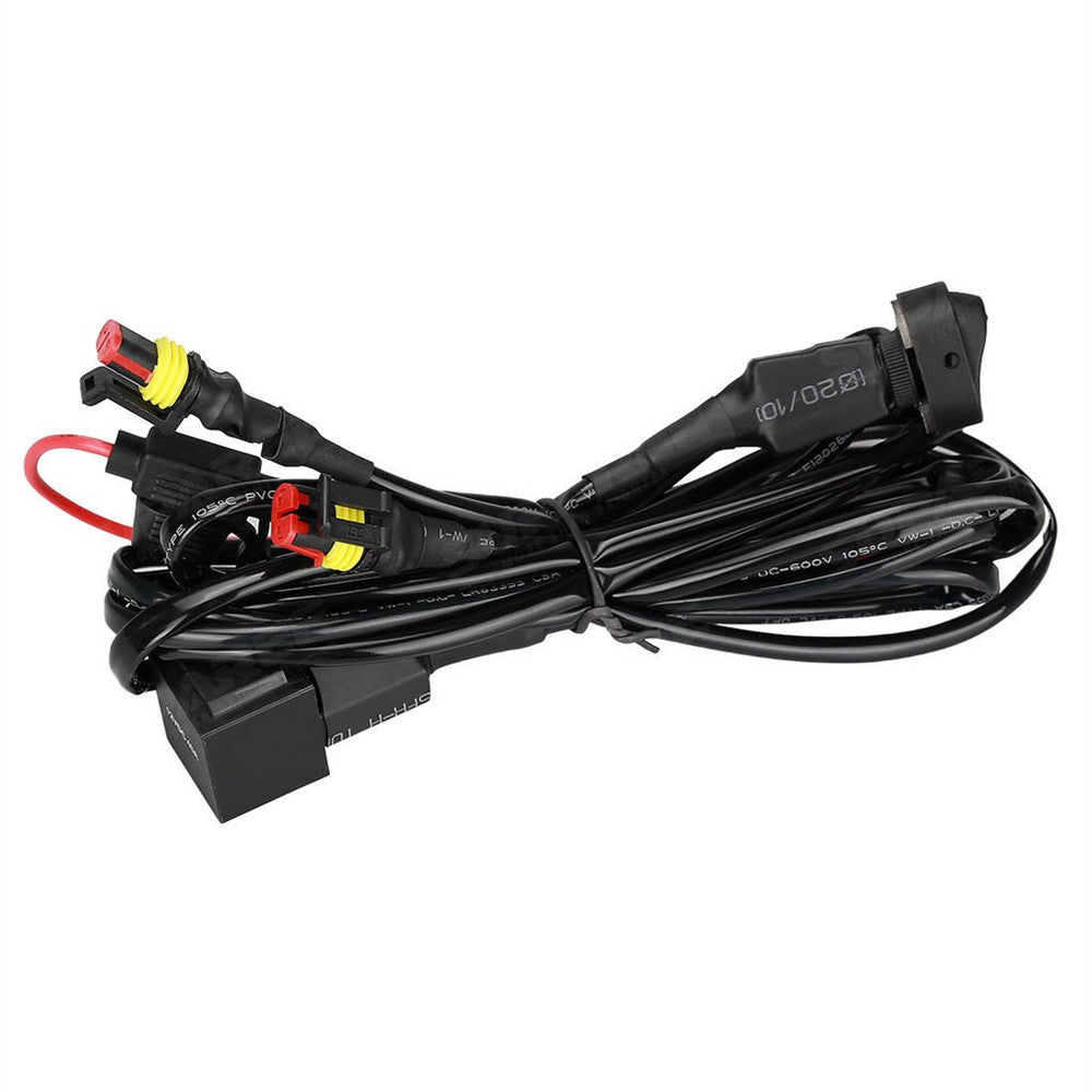 40a 12v Universal Wiring Harness Switch On Off For Motorcycle Jeep Auxiliary Fog Light Wires