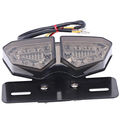 20 LEDs 12V Motorcycle Integrated Taillight Refit Brake Light Turn Signal Number Plate Lamp