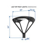 50W LED Post Top Light - LED Factory Mart