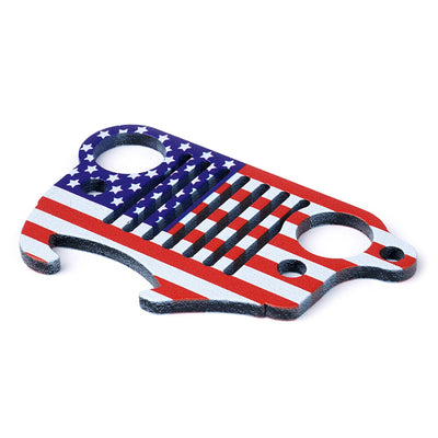 USA ONLY U.S. Flag Jeep Wrangler Keychain Bottle Opener