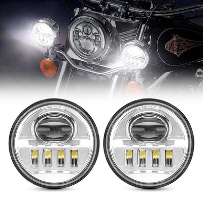 4.5 LED Passing Lamps Fog Lights For Harley Davidson
