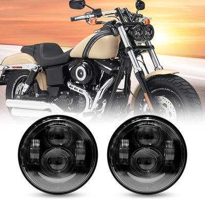 4.65 inch Headlights For Harley Dyna Glide Fat Bob Street