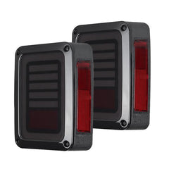 Smoke LED Rear Tail Lights with Smoke Third LED Replacement Brake Light