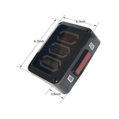 Smoke Lens Diamond Series Red LED Tail Light Assembly w Turn Signal & Back Up (4)