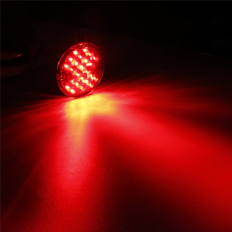 "Red Emark DOT 1156 10W 1/4"" LED Motorcycle Turn Signal Indicators for Softail/Road King/Ultra Classic/Road Glide/Ultra Limited/Electra Glide"