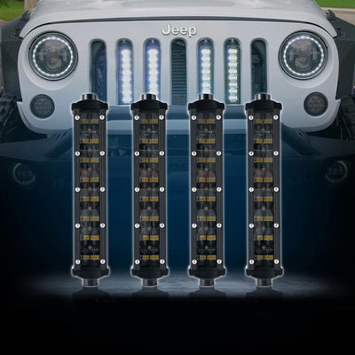 "USA ONLY 4PC 8"" Double Row Philips LED Grille Light Kit"