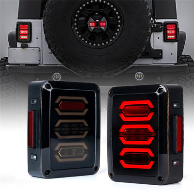 Diamond LED Tail Lights For 07-18 Jeep Wrangler JK JKU