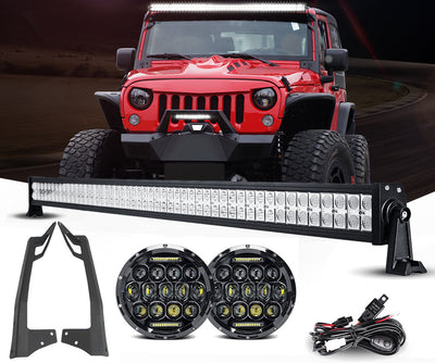 Jeep JK - MVP LED Headlights & Light Bar Package