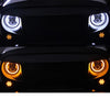 7 inch 80W Jeep Halo Headlights With Angel Eyes For 1997-2019 Jeep Wrangler JK/TJ/LJ/JL