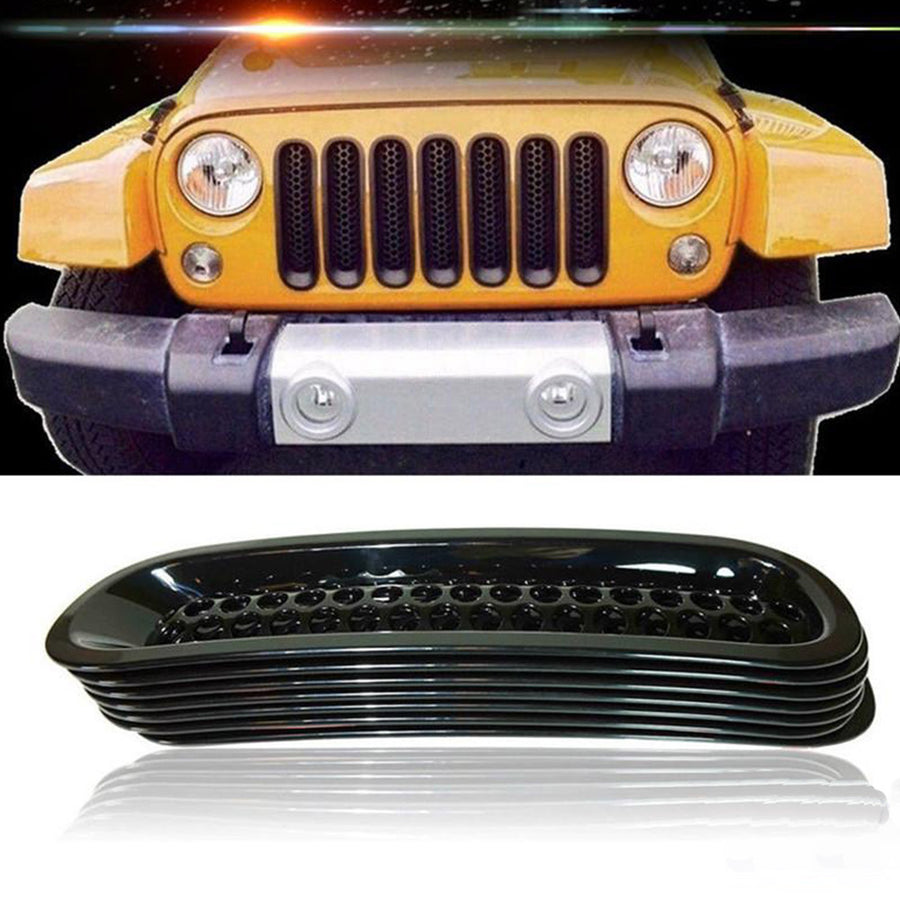 Front Grille Mesh Covers For Jeep Wrangler JK 07-17