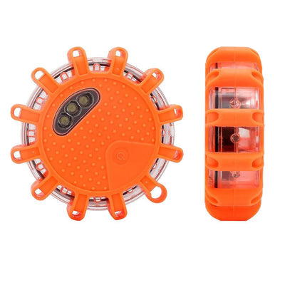 Road Flare, Flashing Warning Light Emergency Signal Warning LED Light Beacon with Magnetic Base for Car Truck Boat