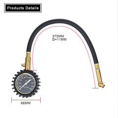 Tyre Pressure Gauge, 100psi Heavy Duty Air Pressure Tire Gauge Best for Car & Motorbike